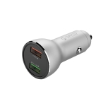 ORICO UPF-Q2 Dual USB Quick Charge Smart Car Charger(Silver)