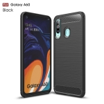 Brushed Texture Carbon Fiber TPU Case for Galaxy A60(Black)