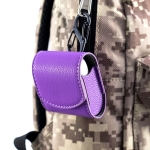 Lychee Wireless Bluetooth Headset Charging Box Leather Case for Apple Airpods(Purple)