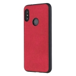 Shockproof  Matching Denim PC + PU + TPU Protective Case for Xiaomi Redmi Note 6 Pro(Red)