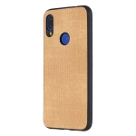 Shockproof  Matching Denim PC + PU + TPU Protective Case for Xiaomi Redmi Note 7(Light brown)