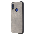 Shockproof  Matching Denim PC + PU + TPU Protective Case for Xiaomi Redmi Note 7(Grey)