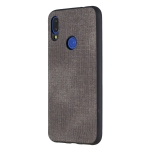 Shockproof  Matching Denim PC + PU + TPU Protective Case for Xiaomi Redmi Note 7(Black)