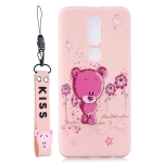 Liquid Silicone Shockproof Full Coverage Protective Shell for OPPO F11 Pro(Flower Bear)