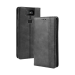 Magnetic Buckle Retro Crazy Horse Texture Horizontal Flip Leather Case for Asus Zenfone 6 ZS630KL , with Holder & Card Slots & Photo Frame(Black)