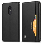 Knead Skin Texture Horizontal Flip Leather Case for OnePlus 6T, with Photo Frame & Holder & Card Slots & Wallet(Black)