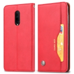 Knead Skin Texture Horizontal Flip Leather Case for OnePlus 7 Pro, with Photo Frame & Holder & Card Slots & Wallet(Red)
