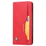 Knead Skin Texture Horizontal Flip Leather Case for Sony Xperia XZ2, with Photo Frame & Holder & Card Slots & Wallet(Red)