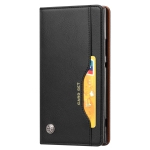 Knead Skin Texture Horizontal Flip Leather Case for Sony Xperia XA2 Ultra, with Photo Frame & Holder & Card Slots & Wallet(Black)