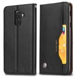 Knead Skin Texture Horizontal Flip Leather Case for Xiaomi Pocophone F1, with Photo Frame & Holder & Card Slots & Wallet(Black)