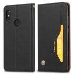 Knead Skin Texture Horizontal Flip Leather Case for Xiaomi Redmi Note6 Pro, with Photo Frame & Holder & Card Slots & Wallet(Black)