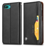 Knead Skin Texture Horizontal Flip Leather Case for Huawei Honor 10, with Photo Frame & Holder & Card Slots & Wallet(Black)
