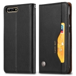 Knead Skin Texture Horizontal Flip Leather Case for Huawei Y6 (2018) / Honor 7A / Enjoy 8e, with Photo Frame & Holder & Card Slots & Wallet(Black)