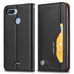 Knead Skin Texture Horizontal Flip Leather Case for Xiaomi Redmi 6 / 6A, with Photo Frame & Holder & Card Slots & Wallet(Black)