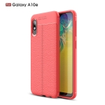 Litchi Texture TPU Shockproof Case for Galaxy A10e(Red)