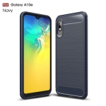 Brushed Texture Carbon Fiber TPU Case for Galaxy A10e(Navy Blue)