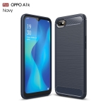 Brushed Texture Carbon Fiber TPU Case for OPPO A1K(Navy Blue)