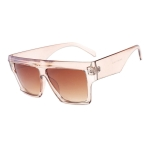 Women Oversized Square Frame Sunglasses Gradient Shades Sun Glasses(C1)