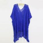 Women Cotton Lace Swimsuit Cover-up(Blue)