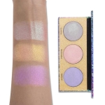 UCANBE Trio Duochrome Crystal Sugar Eyeshadow Palette Multi-use Holographic Pressed Powder Makeup Chameleon Shimmer Eyeshadows(Chameleon Eyeshadow)