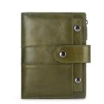 Genuine Leather Female Coin Small Walet Zipper Money Bag Mini Card Holder(Green)