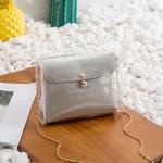 Transparent Chain Crossbody Clutch Shoulder Bags Women Mini Messenger Bag(Grey)