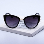 Fashion Cat Eye  Vintage Gradient Glasses UV400 Sunglasses for Ladies(Black)