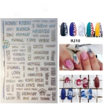 5 PCS Star Moon Sticker Laser Nail Art Nail Sticker, Color:R210 laser silver