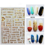 5 PCS Star Moon Sticker Laser Nail Art Nail Sticker, Color:R210 laser gold