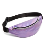 Multi-function Punk Bag Laser Shoulder Bag Women Waist Bag(Purple)