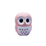 3 PCS Candy Color Owl Moisturizing Lip Balm Natural Plant Sphere Lip Gloss healthy Fruit Embellish Lipstick Makeup Tool(Pink)