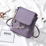 PU Leather Women Backapck Mini Women Shoulder Bags(Purple)
