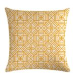 Multi-color Cotton Linen Mustard Pillow Case Yellow Geometric Pillow Covers Decorative Size: 45CM x 45CM(2)