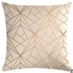 Multi-color Cotton Linen Mustard Pillow Case Yellow Geometric Pillow Covers Decorative Size: 45CM x 45CM(3)
