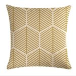 Multi-color Cotton Linen Mustard Pillow Case Yellow Geometric Pillow Covers Decorative Size: 45CM x 45CM(5)