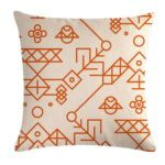 Multi-color Cotton Linen Mustard Pillow Case Yellow Geometric Pillow Covers Decorative Size: 45CM x 45CM(6)
