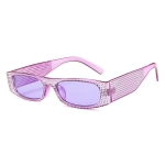 Square Sunglasses Women Imitation Diamond Lasses Fashion UV400 Sunglasses(C5)