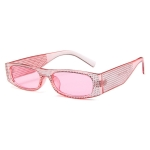 Square Sunglasses Women Imitation Diamond Lasses Fashion UV400 Sunglasses(C8)