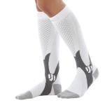 3 Pairs Compression Socks Outdoor Sports Men Women Calf Shin Leg Running, Size:XXL(White)