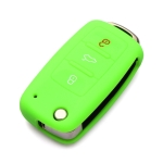 2 PCS Silicone Car Key Cover Case for Volkswagen Golf(Green)