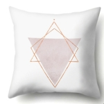2 PCS Pink Geometric  Pillow Case Waist Square 45cm*45cm Decorative Pillowcases Patterned graphic pillowcase(1)