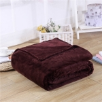 Solid Color Flannel Coral Fleece Blanket Super Soft Plaid Coverlet Sofa Cover Winter Warm Sheets Easy Wash Faux Fur Blankets, Size:200X230cm(Coffee)