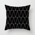 2 PCS Black and White Simple and Modern Geometric Abstract Decorative Pillowcases Polyester Throw Pillow Case(21)