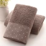 Absorbent Cotton Hair Beach Towel Quick-dry Sport Bathroom Sauna Towel, Size: 140x70cm(Dark brown)