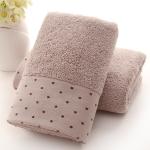 Absorbent Cotton Hair Beach Towel Quick-dry Sport Bathroom Sauna Towel, Size: 140x70cm(Light brown)
