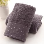 Absorbent Cotton Hair Beach Towel Quick-dry Sport Bathroom Sauna Towel, Size: 140x70cm(Blue)