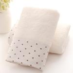 Absorbent Cotton Hair Beach Towel Quick-dry Sport Bathroom Sauna Towel, Size: 140x70cm(White)