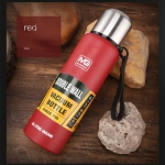 Outdoor Thermos Portable Large Capacity Insulated Cup, Capacity:750ml(Red)