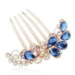 Geometric Women Hair Comb Rhinestone Crystal Hair Clips