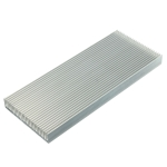 Aluminum Heat Sink Cooler  Fin with 26 Fin for High Power LED Amplifier Transistor, Size: 100x41x8mm